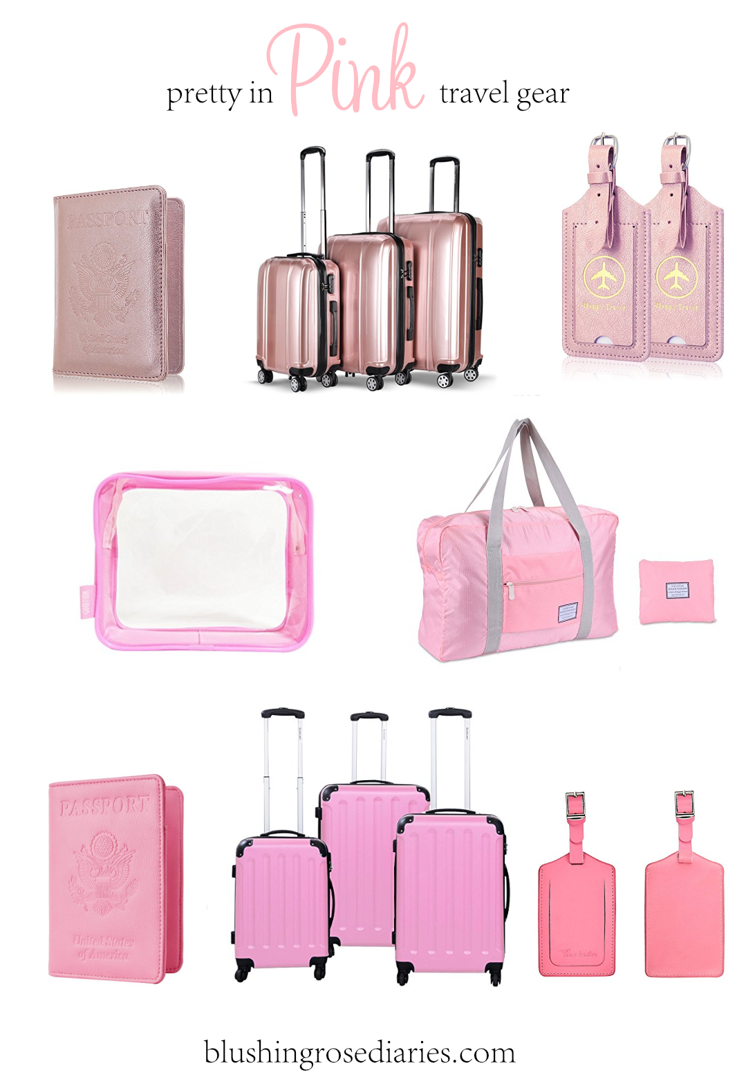 Pink Travel Gear
