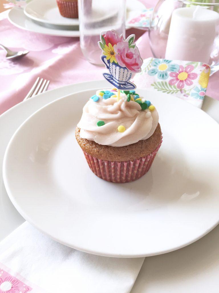 Spring Vegan Cupcake