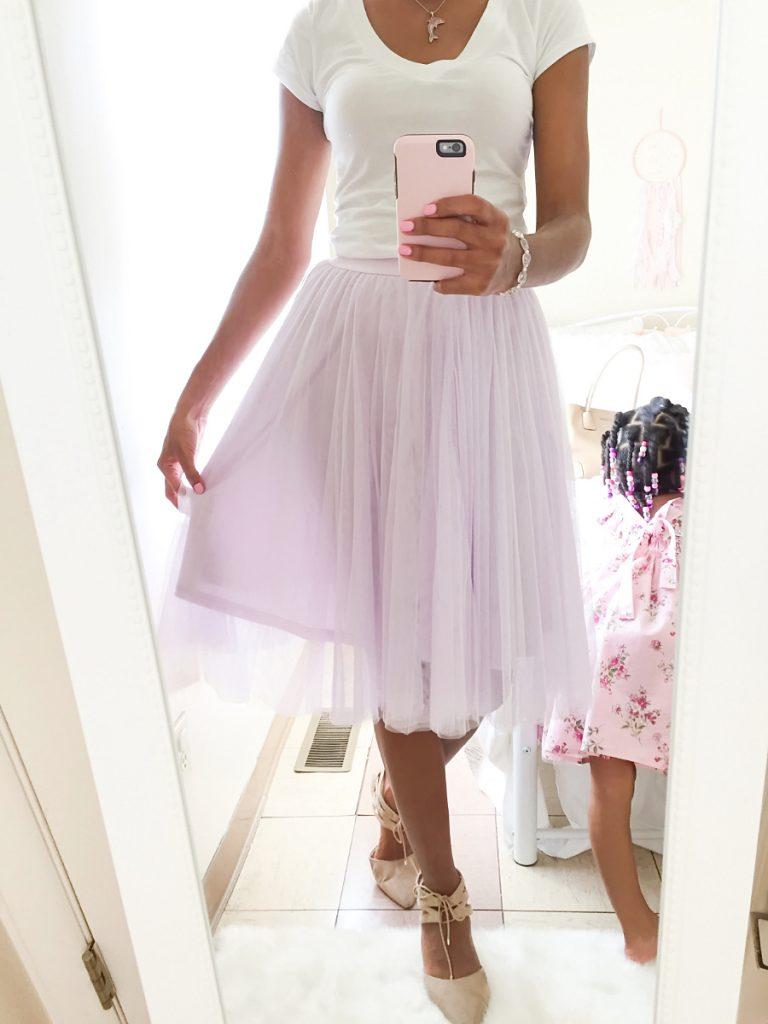 Lavender Tulle Skirt