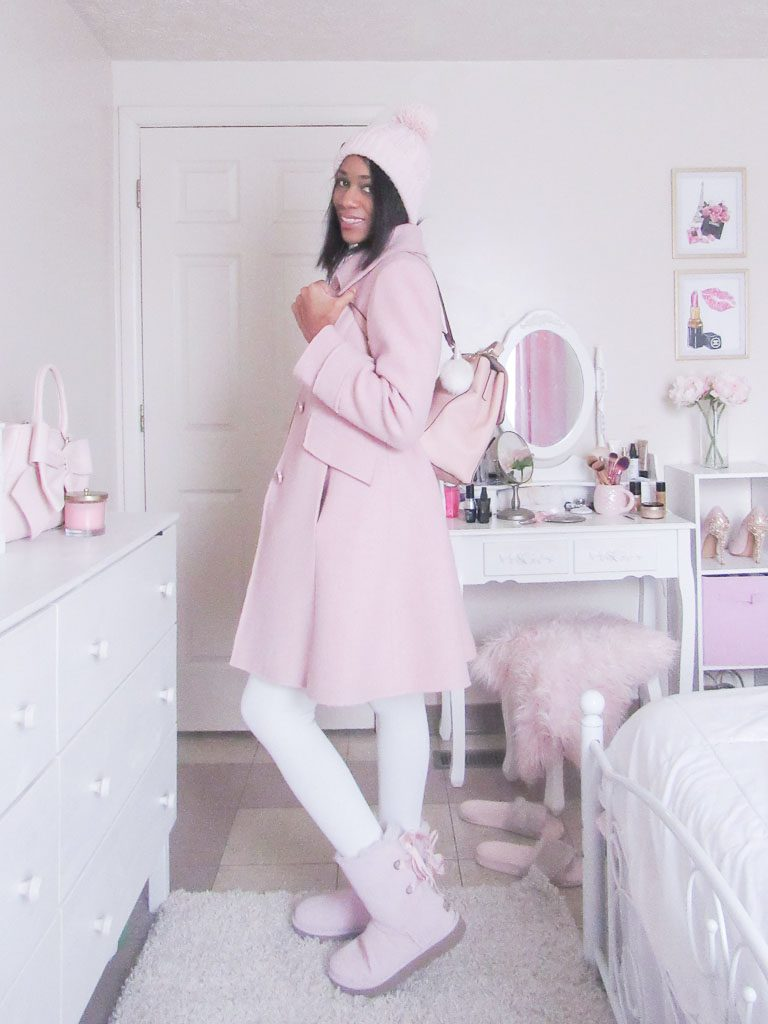 Ugg's pink winter boots