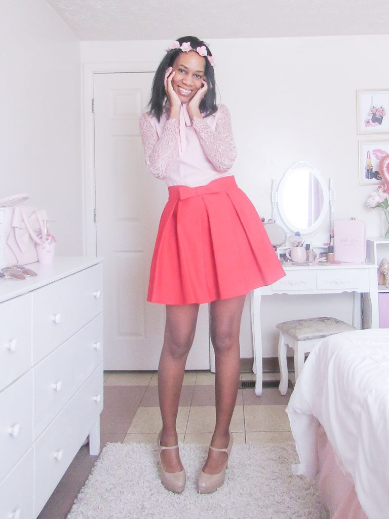 Pink & Red Valentines Day Outfit