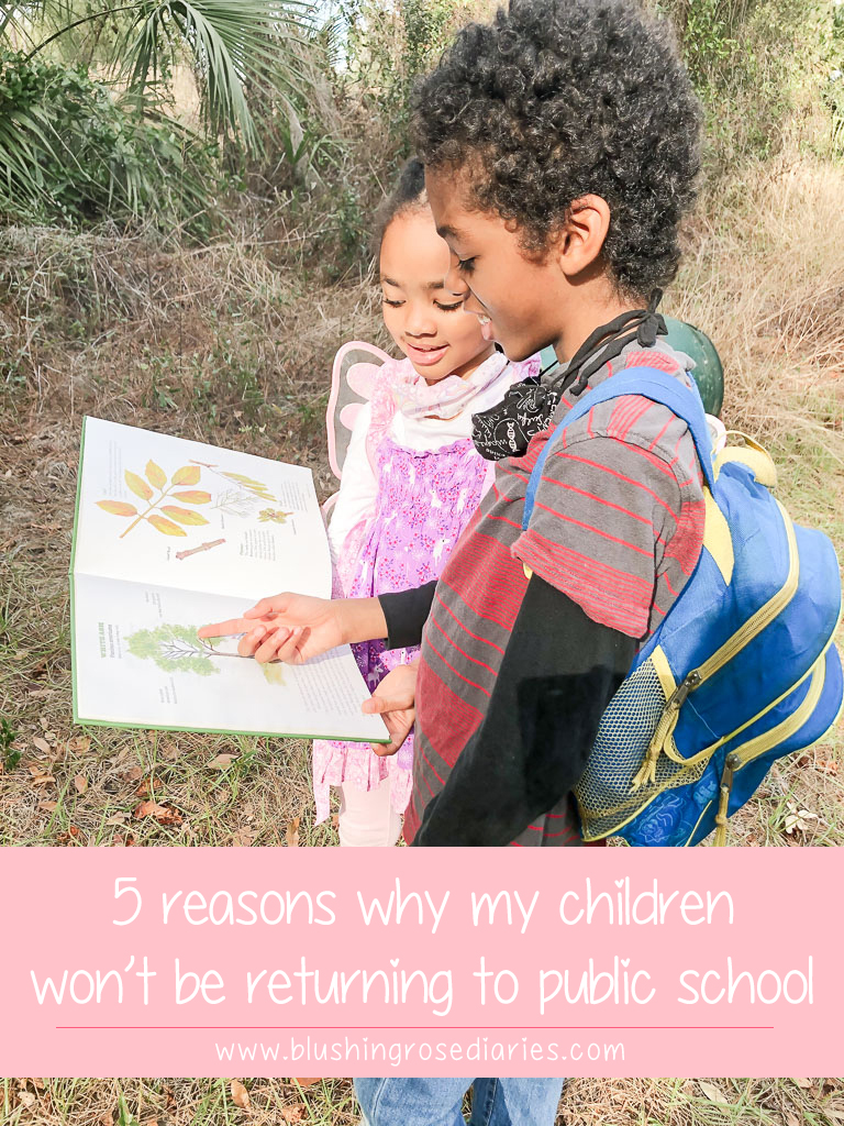 5 Reasons why my children won't be returning to public school
