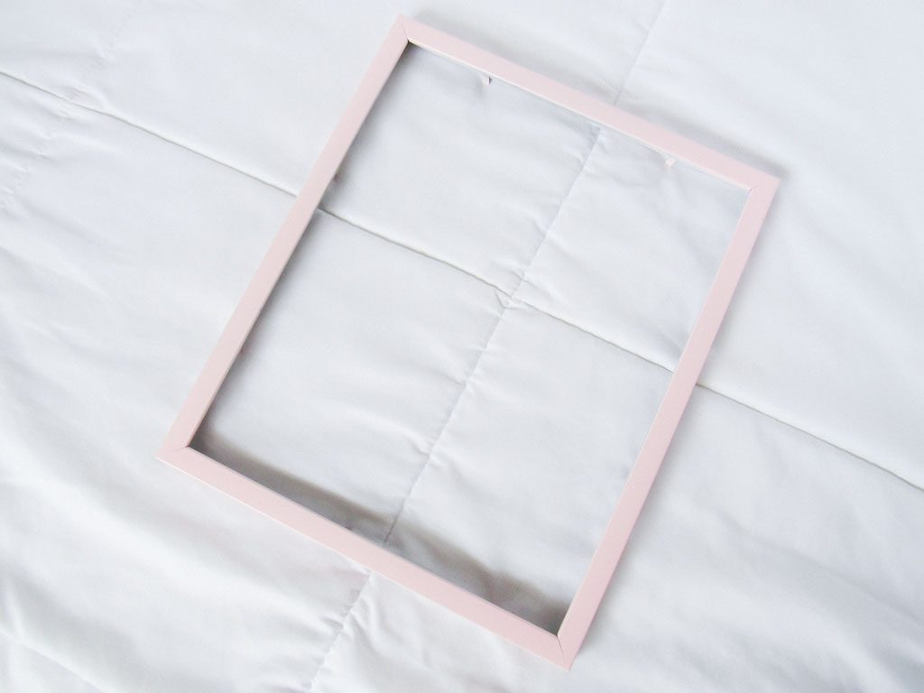 Pink Picture Frame Tutorial