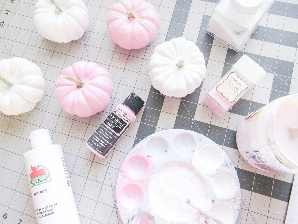 Pink & White Pumpkins