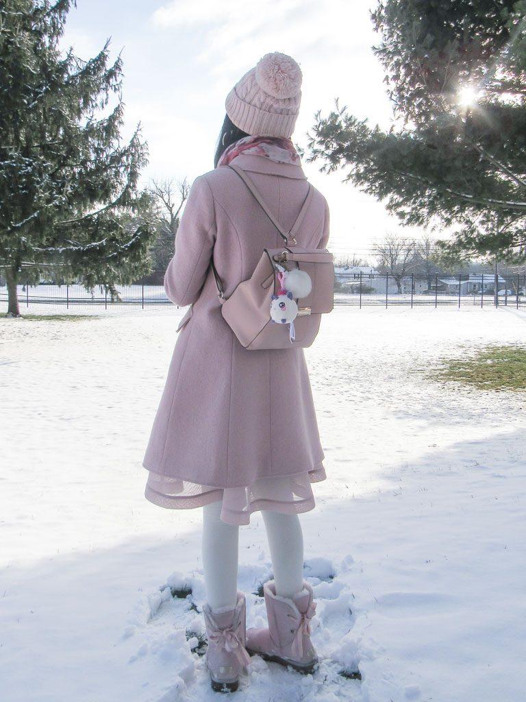 Pink winter outerwear