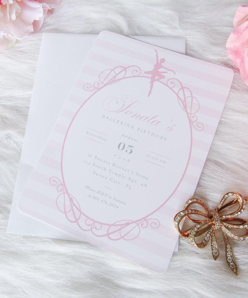 Pretty Ballerina Invitation
